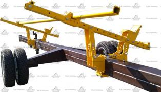 Cart for import header from 7 meters and one biaxial