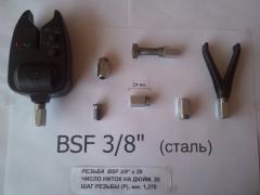 Fishing nut for Rod Pod BSF 3/8 inch (aluminum, steel)